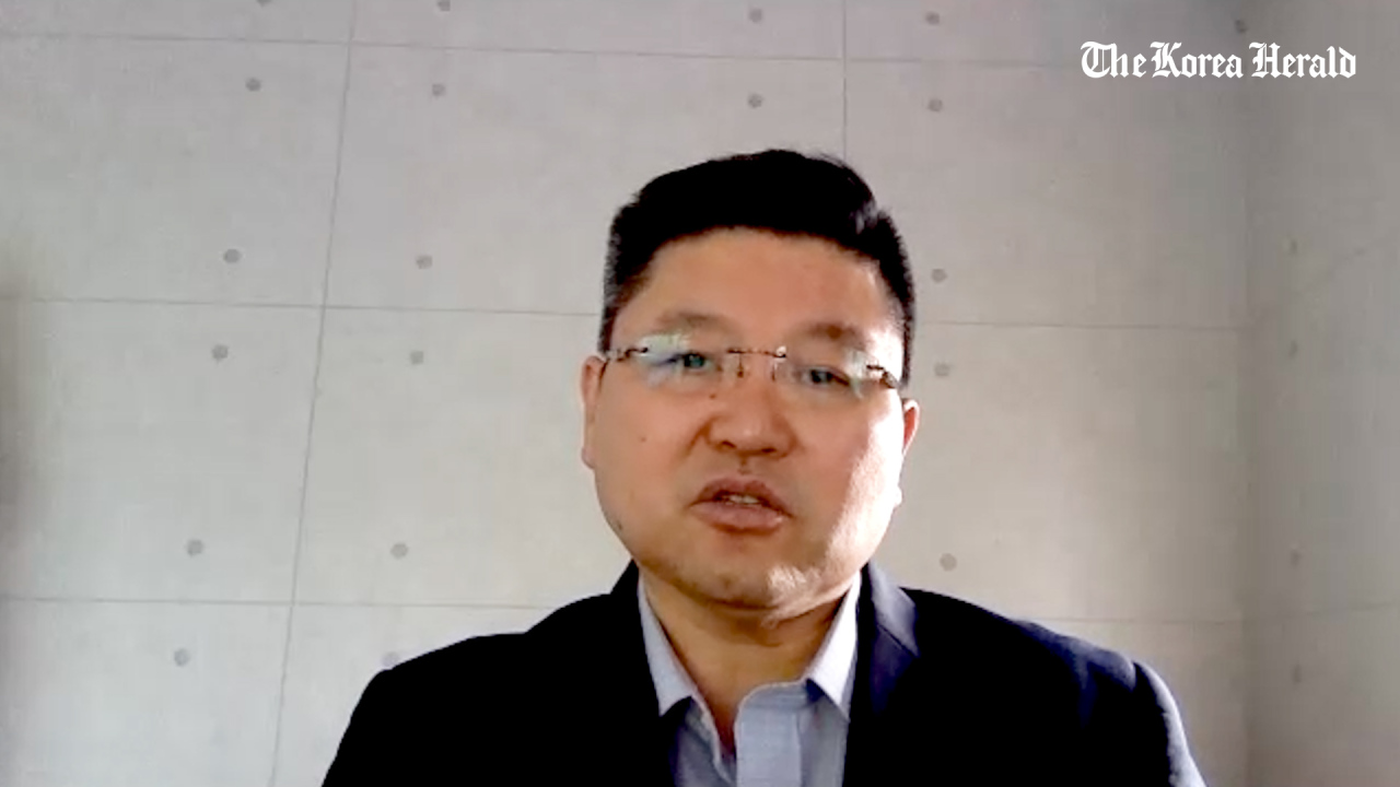 Kang Hyung-won speaks during a video interview with The Korea Herald on July 28.