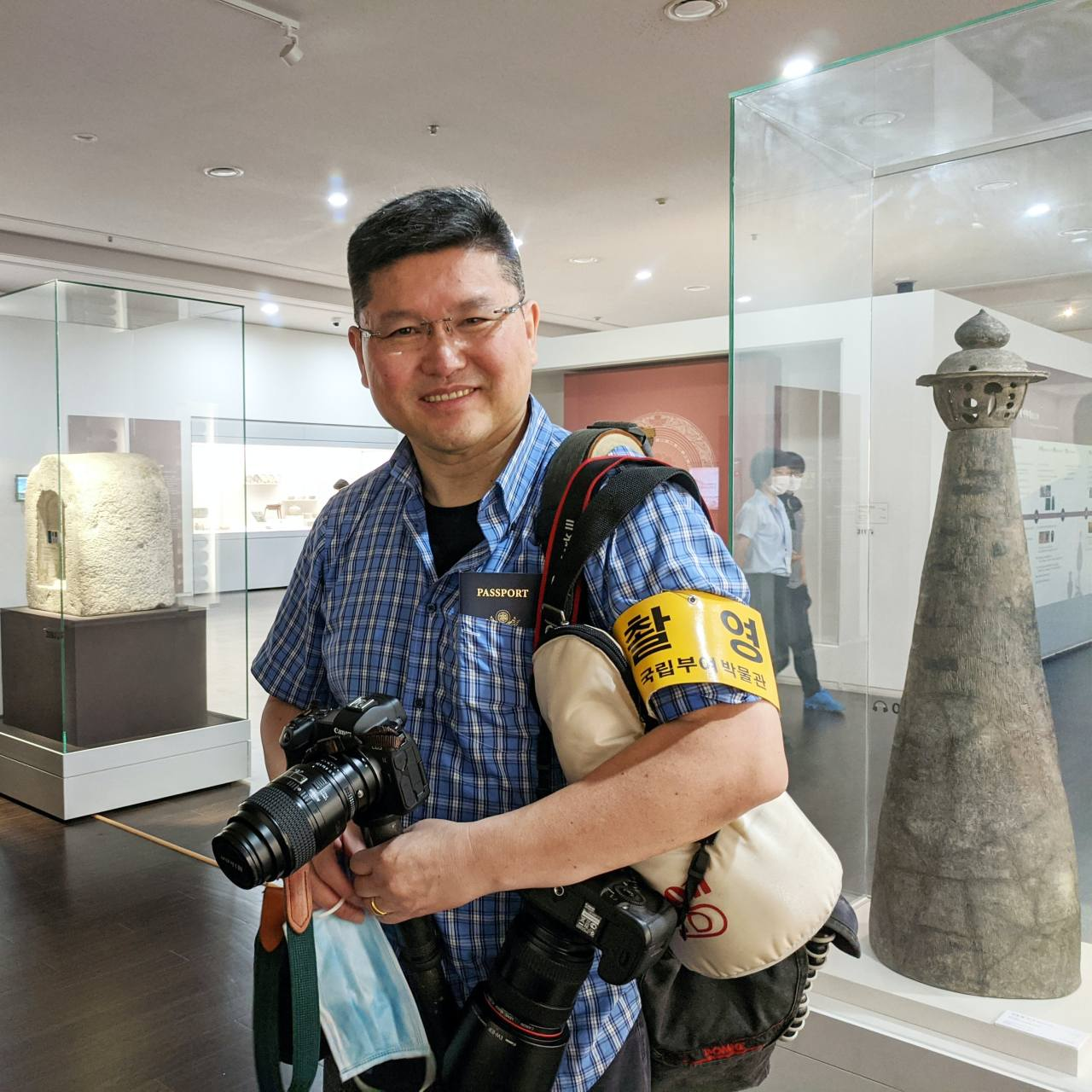 Kang Hyung-won poses at the Buyeo National Museum in Buyeo, South Chungcheong Province, in 2020. ((Courtesy of Kang Hyung-won)
