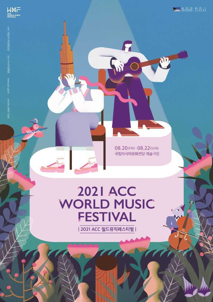 Poster image for the 2021 ACC World Music Festival (Asia Culture Center)