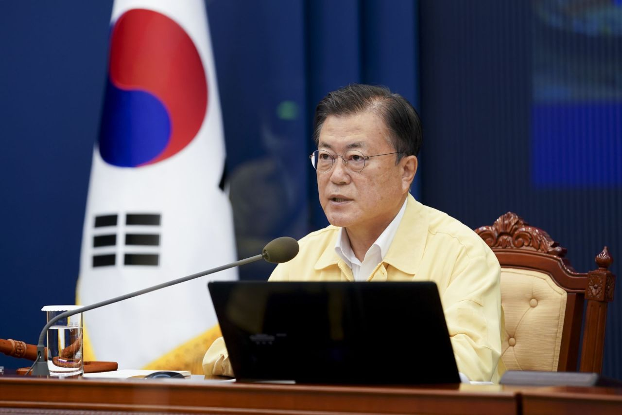 The undated file photo, provided by Cheong Wa Dae, shows President Moon Jae-in.(Yonhap)