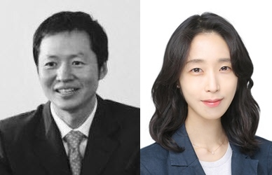 From left: Egon Zehnder Seoul's managing partner Eugene Kim and business analyst Hannah Hyun-jeong Nam (Egon Zehnder Seoul)