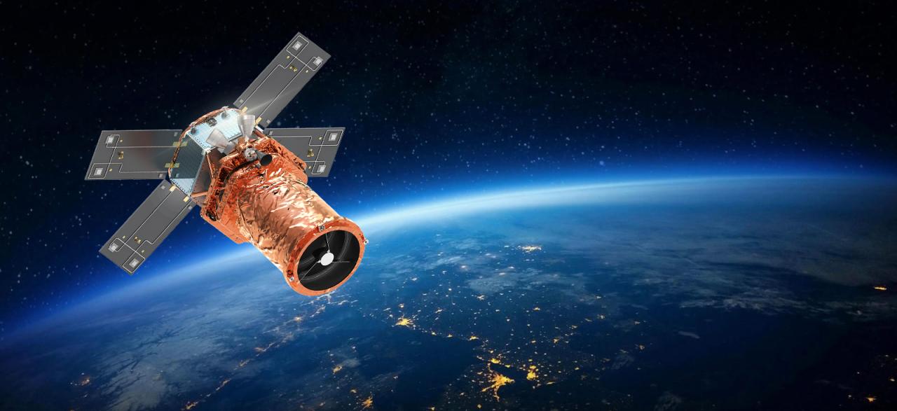 A rendering of Satrec Initiative's satellite system (Satrec Initiative)