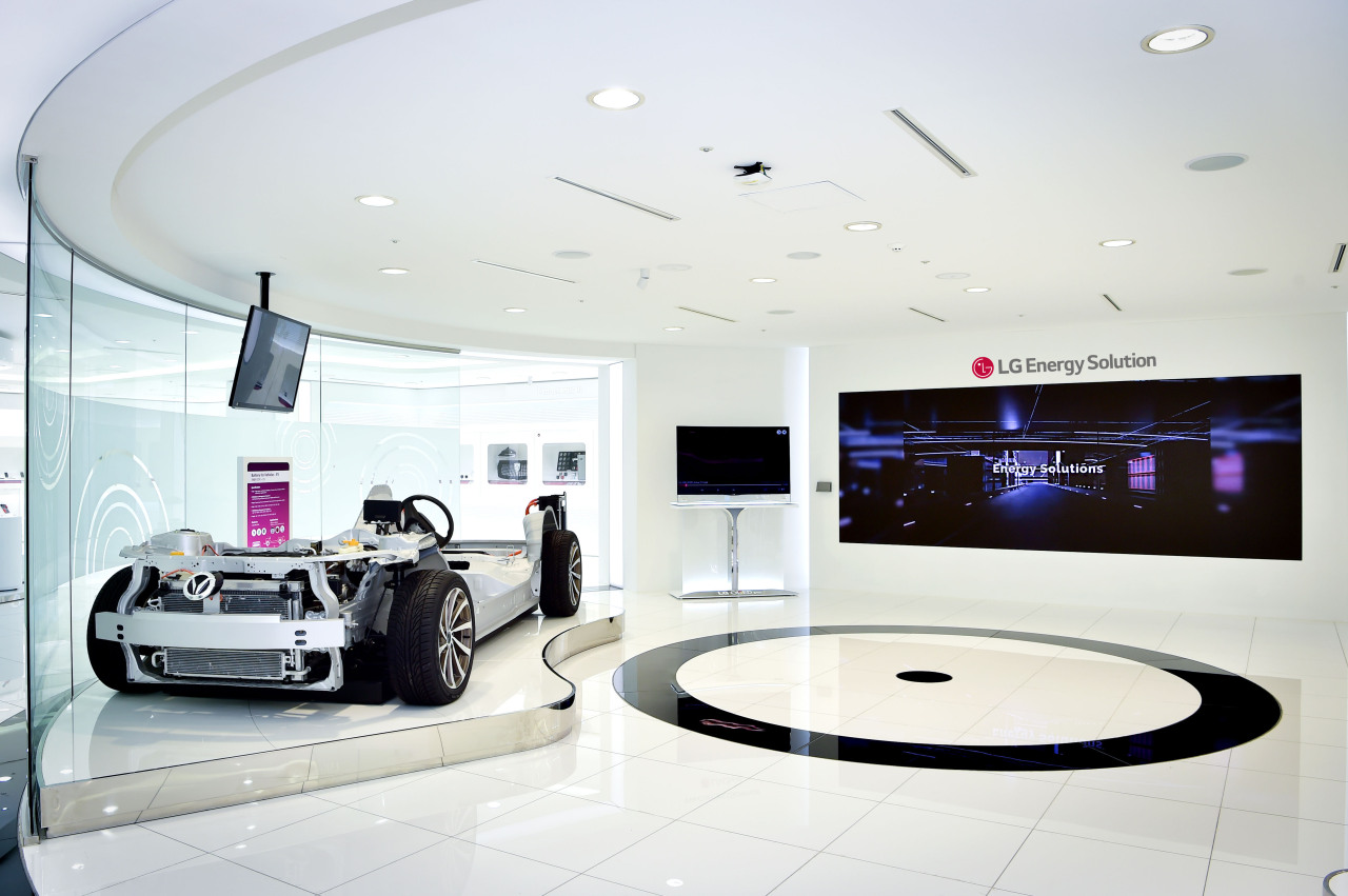 An exhibition space at LG Energy Solution's R&D center in Daejeon (LG Energy Solution)