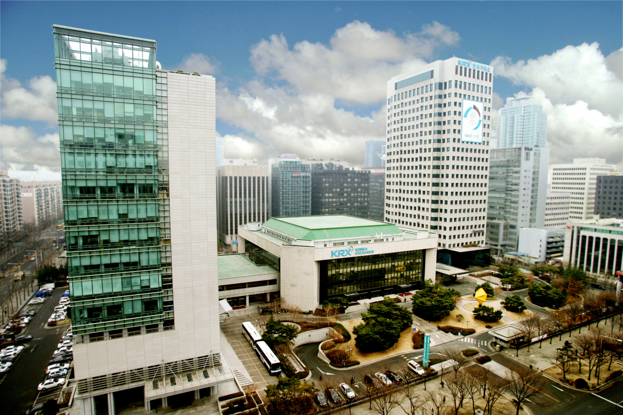 An aerial view of the Korea Exchange's Seoul office in Yeouido (KRX)