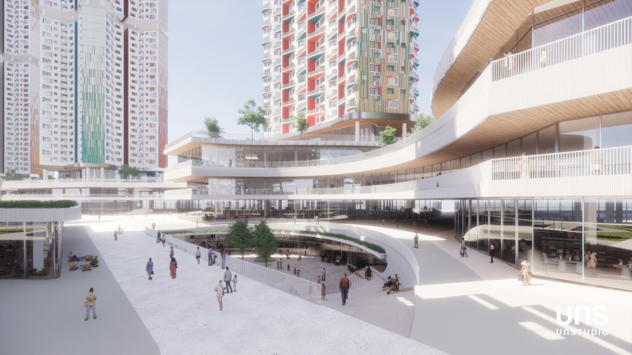 A blueprint of the Yongsan Railway Hospital site development project (HDC Hyundai Development Company)