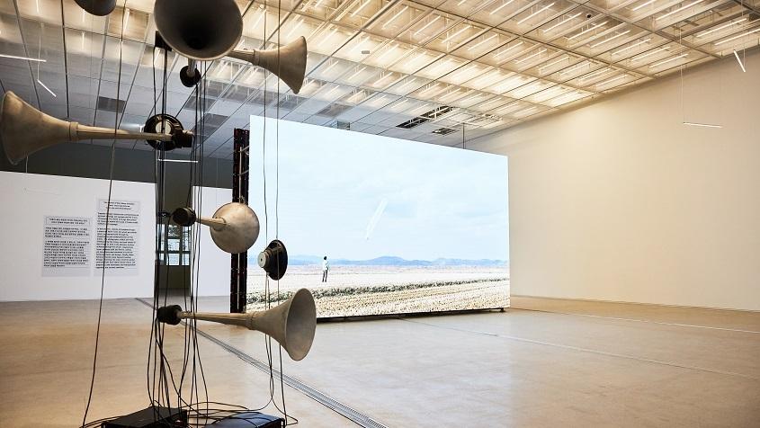 "An installation view of ""MMCA Hyundai Motor Series 2021: Moon Kyungwon & Jeon Joonho - News From Nowhere, Freedom Village"" at MMCA Seoul (MMCA)"
