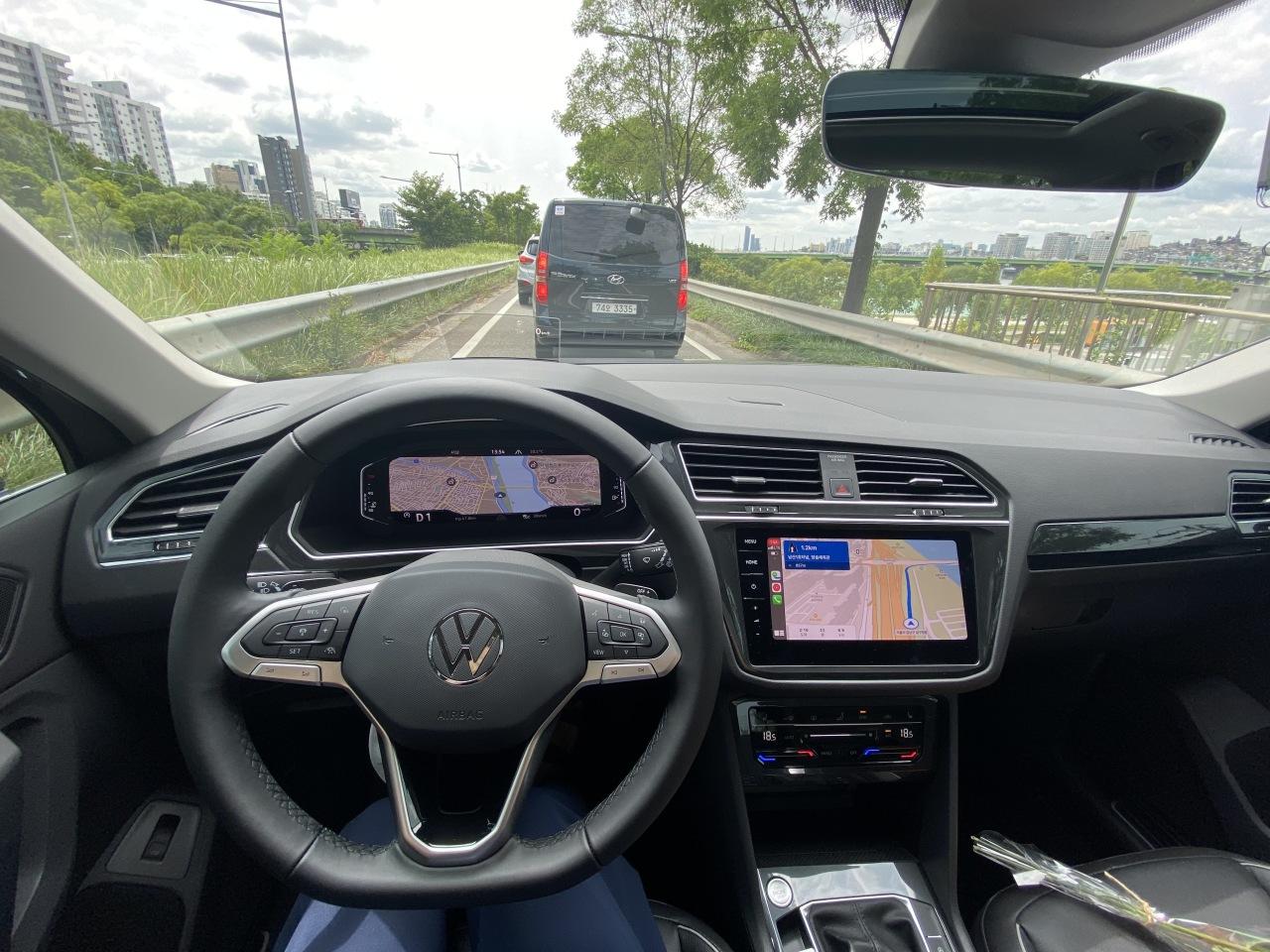 The Volkswagen Tiguan (Jo He-rim/The Korea Herald)