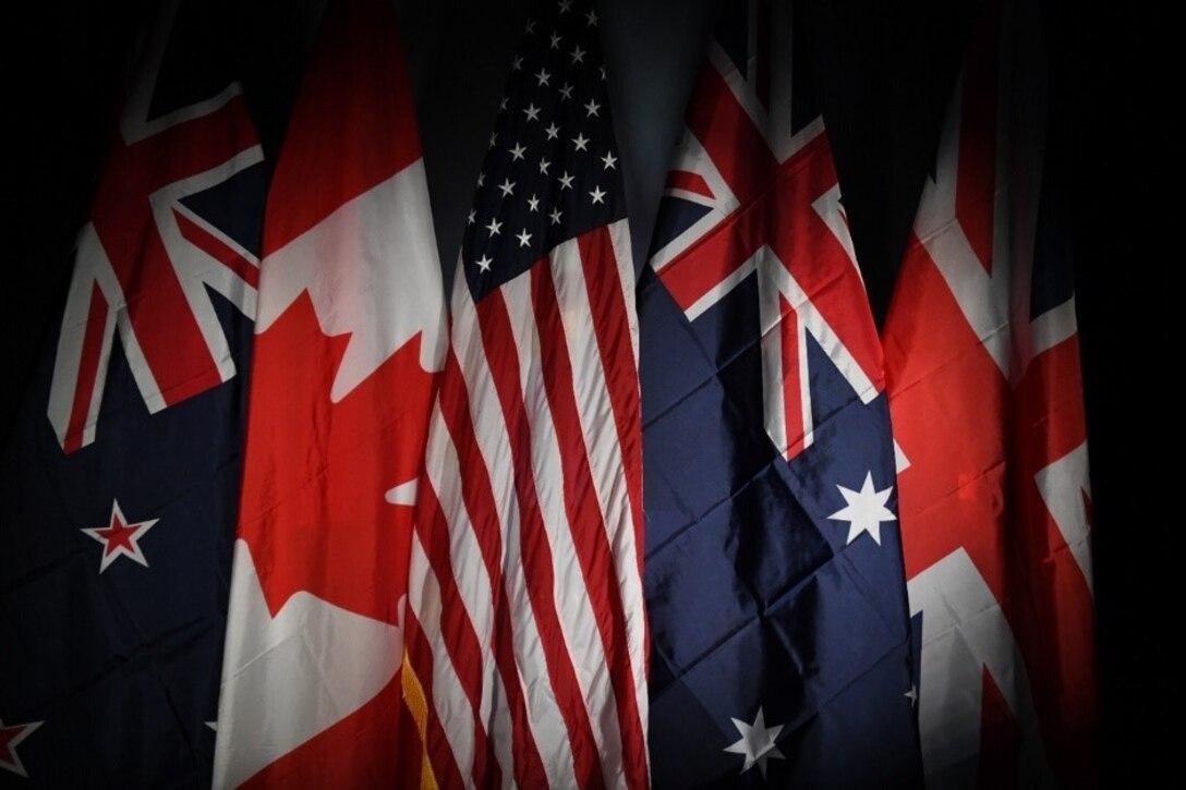 Flags of Five Eyes members (123rf)
