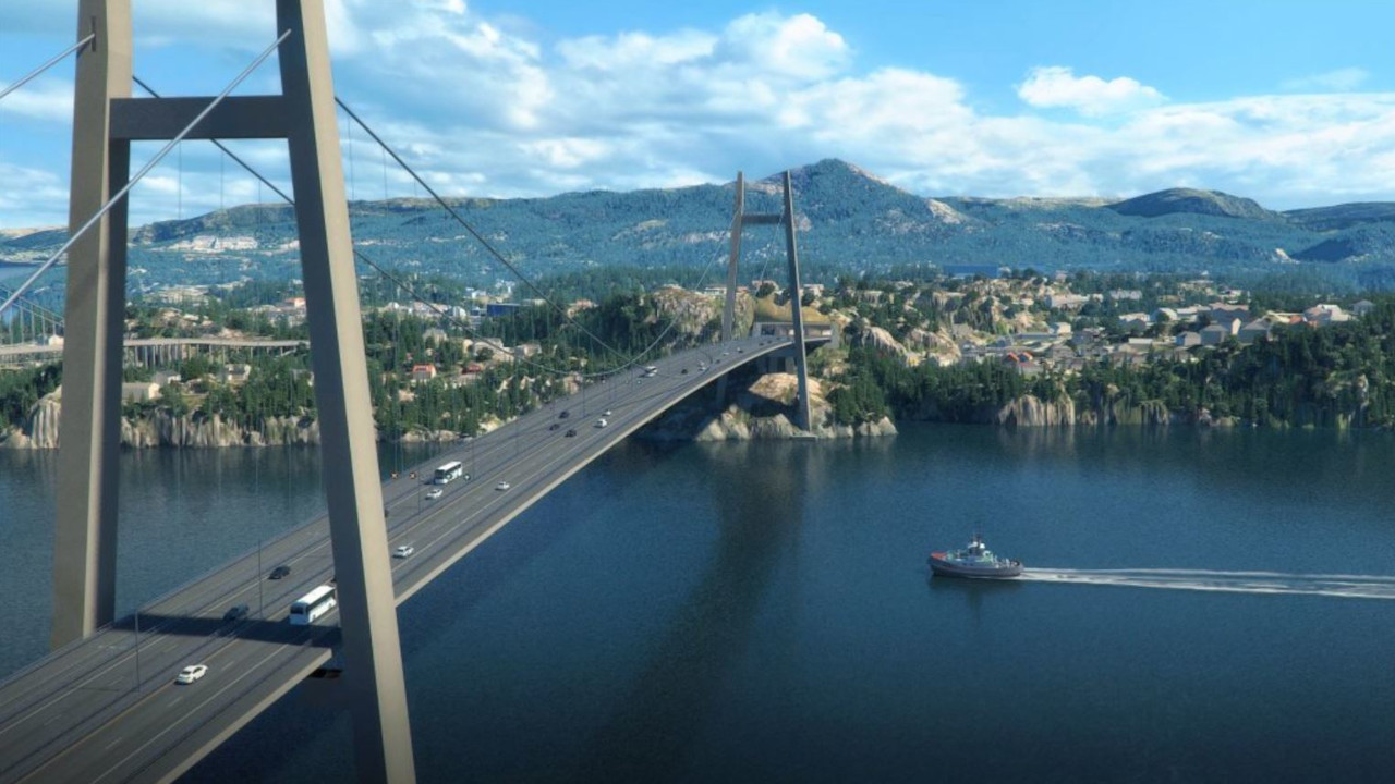 An artistic rendering of the bridge SK ecoplant and its consortium members will build in Norway. (SK ecoplant)