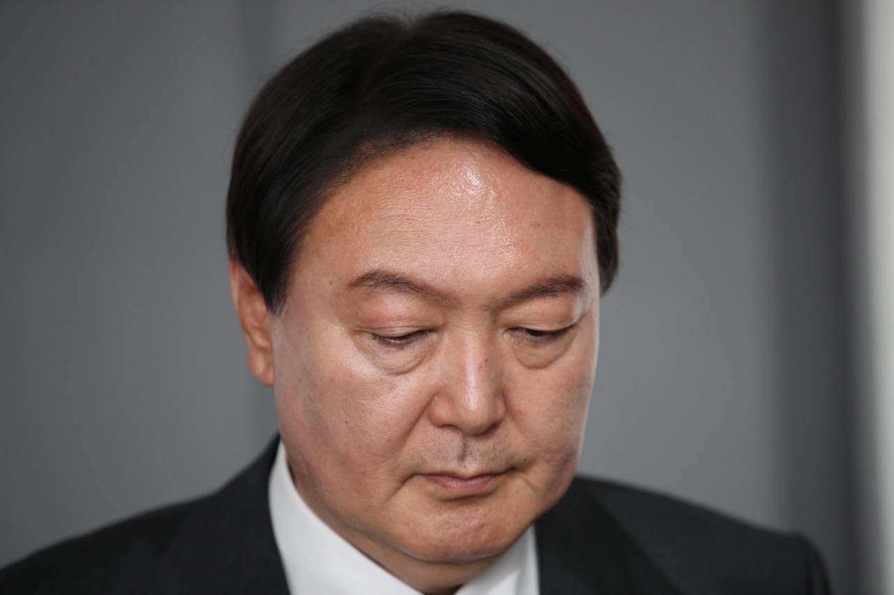 This photo distributed by the National Assembly press corps shows ex-Prosecutor General Yoon Seok-youl. (National Assembly)