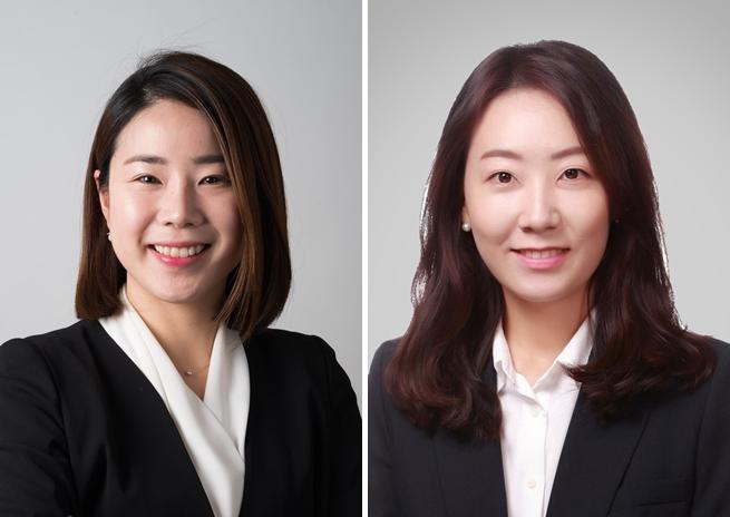 Kim Mi-jung (left) and Lee Min-ji