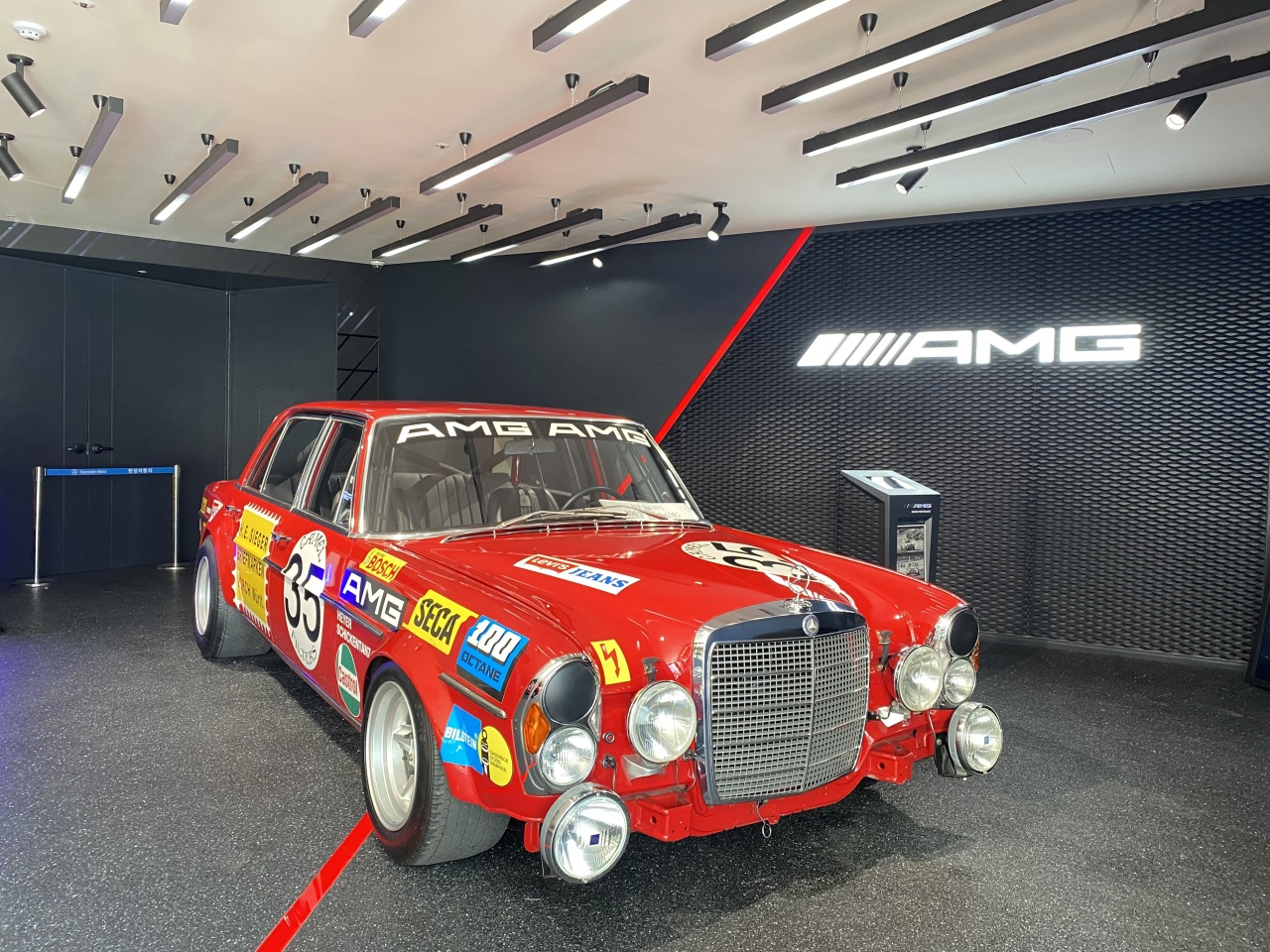 The Red Pig, a replica of the Mercedes 300 SEL (Jo He-rim/The Korea Herald)