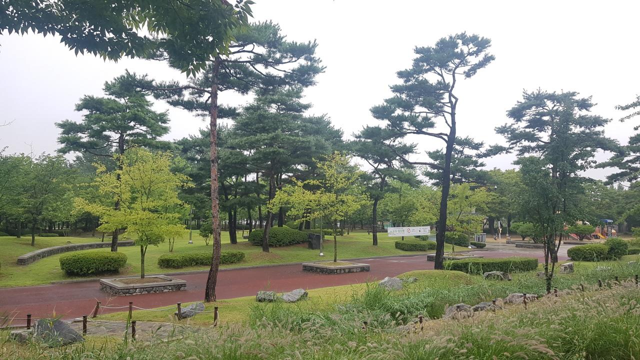 A park next to TSK's underground water treatment center (TSK)