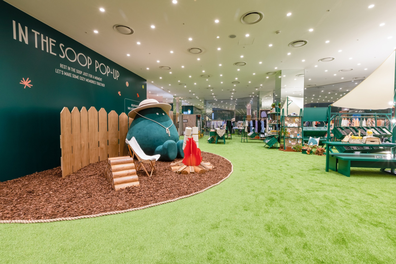 This file photo shows the main view of the In the SOOP pop-up store. (Hybe)