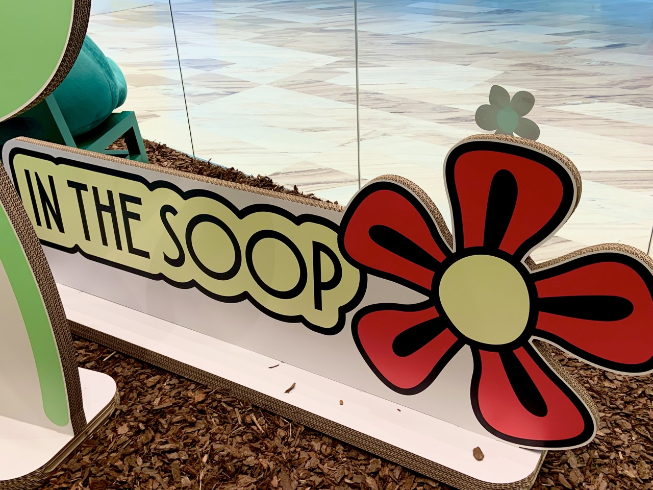"""An """"In the Soop"""" sign welcomes visitors to the store. (Park Jun-hee/The Korea Herald)"""