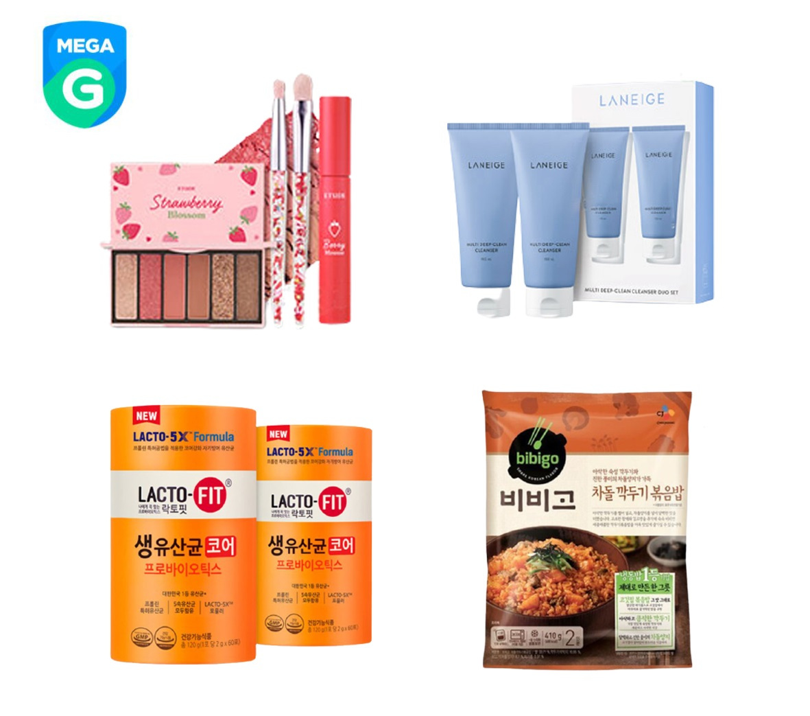 This image provided by Gmarket shows hit products from its Mega G-Festival held in the run-up to the Chuseok holiday season.