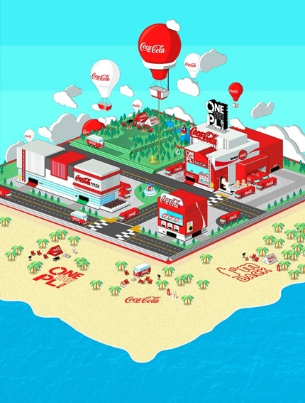 Coca-Cola Korea's virtual space on metaverse platform Gather Town, which protmotes its recycling campaign