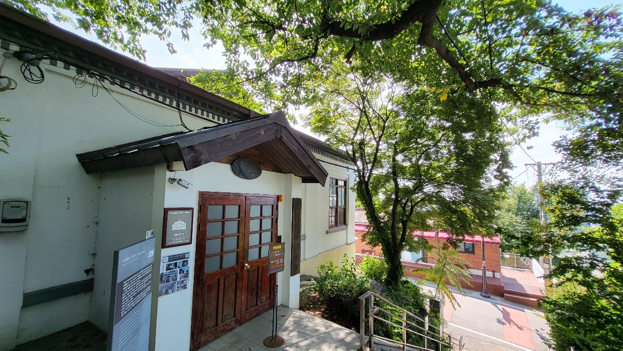 Entrance to Jemulpo Club, a social club for foreigners in Incheon, was established in 1891. It remained in operation until the Japanese occupation of the Korean Peninsula. (Kim Hae-yeon/ The Korea Herald)