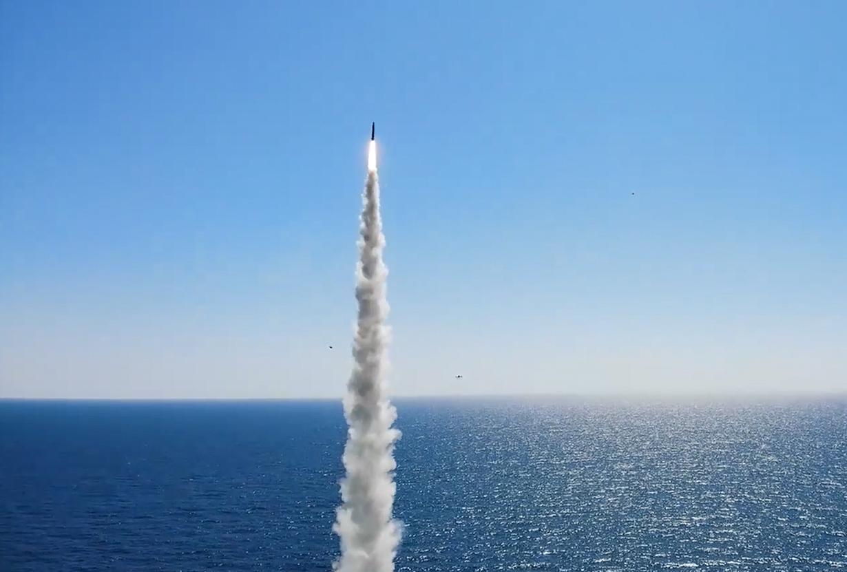 South Korea's SLBM test. (Yonhap)