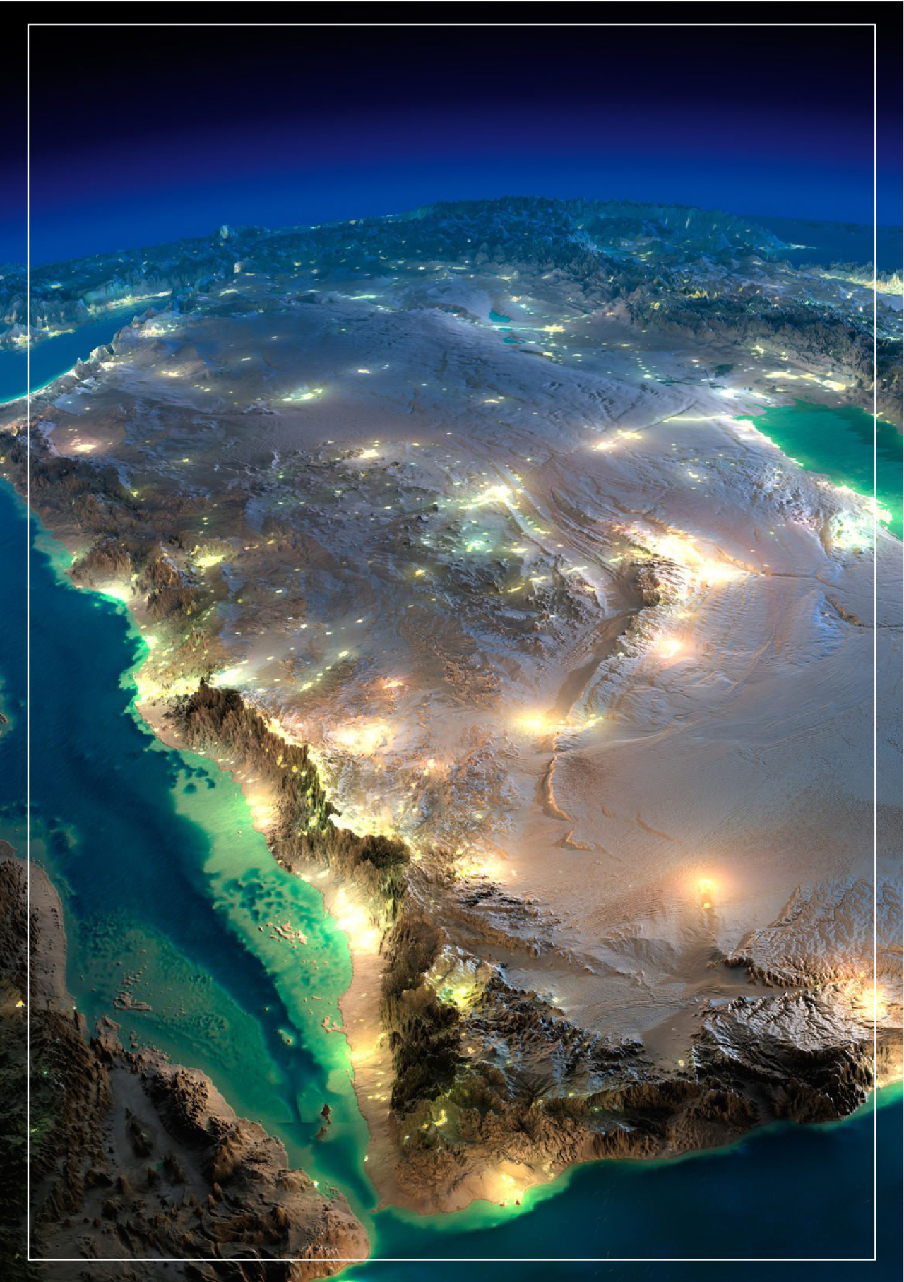 Map of the Kingdom of Saudi Arabia