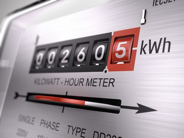 An electricity meter (Kepco)