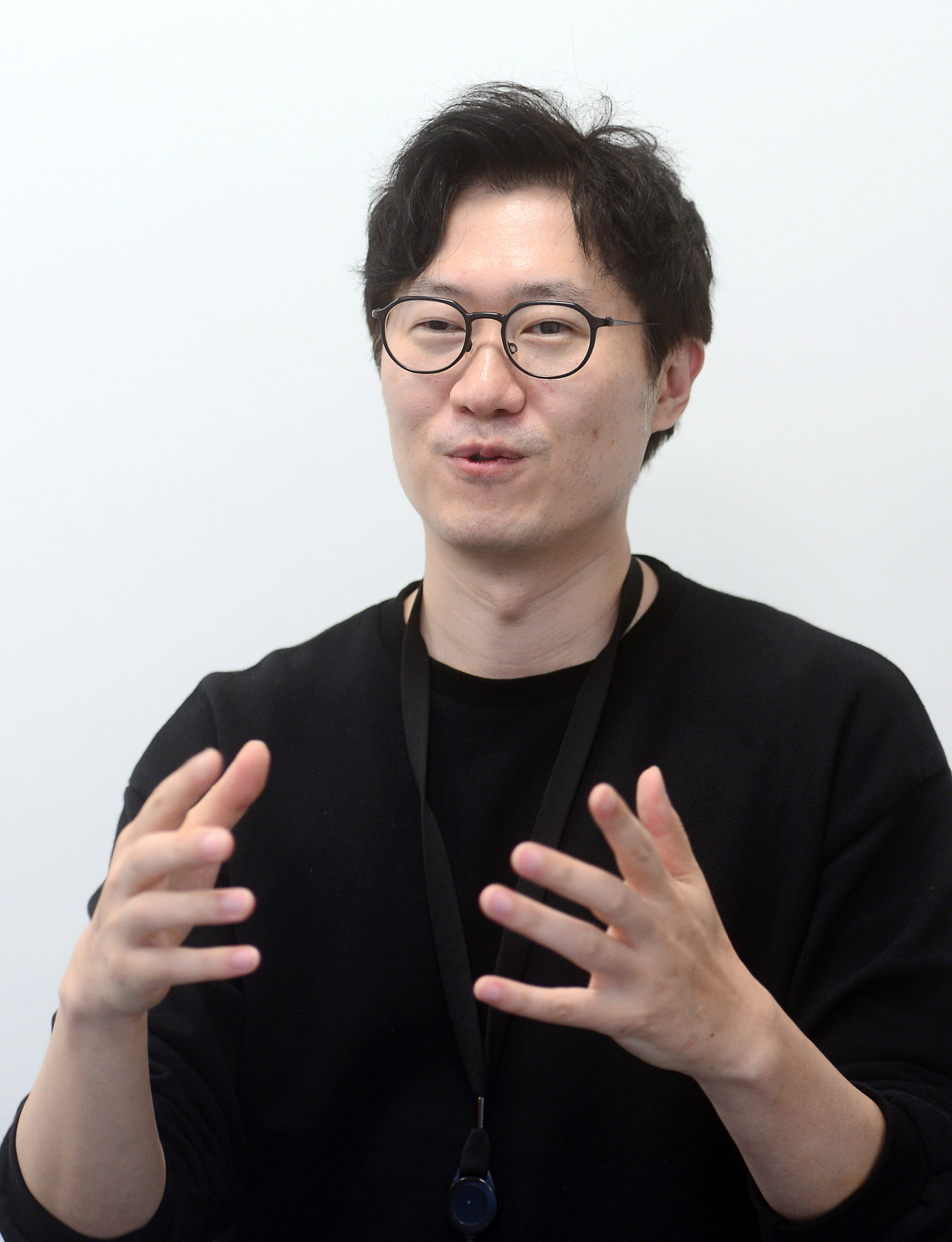 Kwon Young-jin, chief of Hyundai Motor Group's Zer01ne Playground, speaks during an interview with The Korea Herald on Sept. 15. (Lee Sang-sub/The Korea Herald)