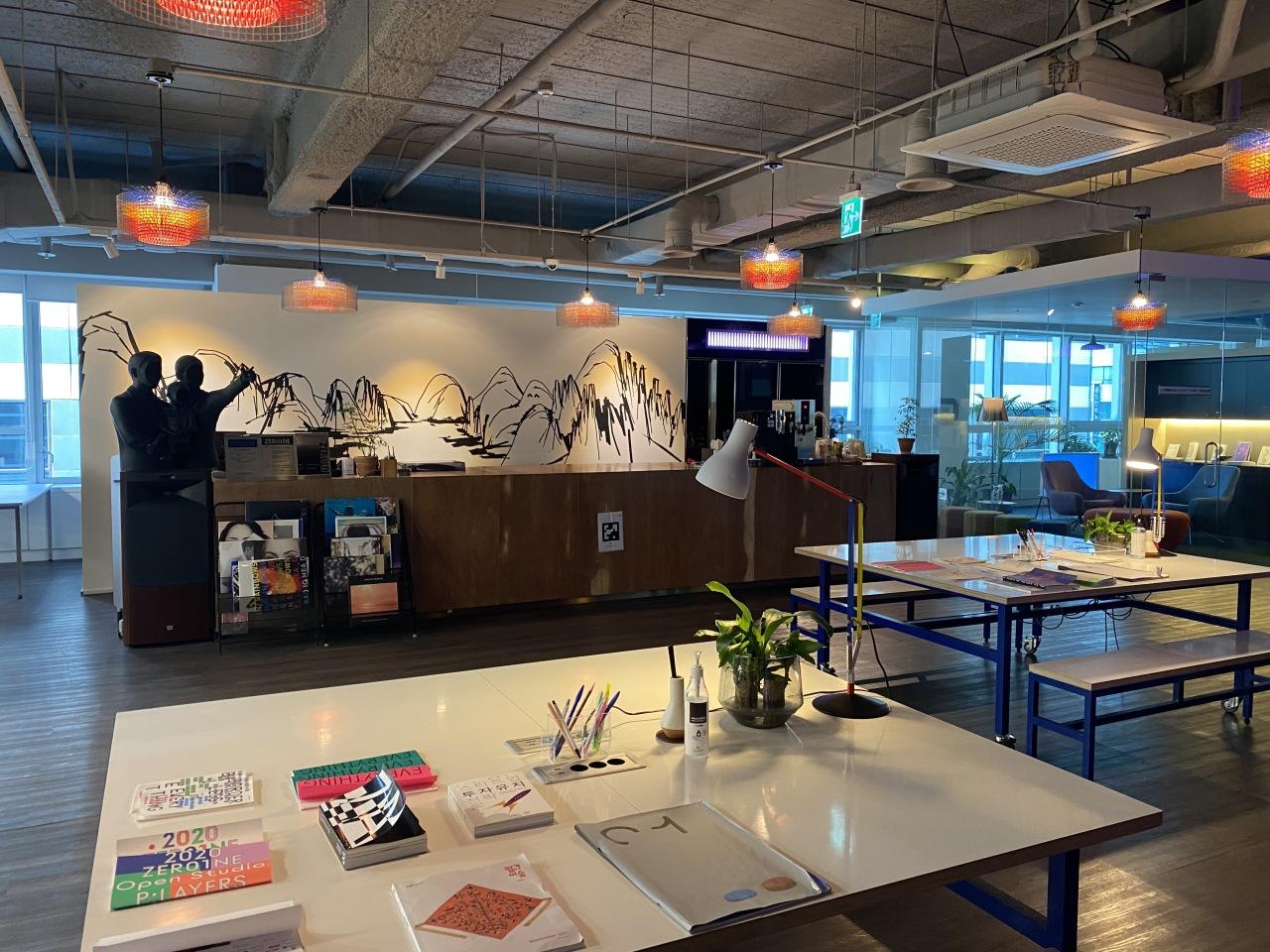 Inside the headquarters of Hyundai Motor Group's open innovation platform Zer01ne (Jo He-rim/The Korea Herald)