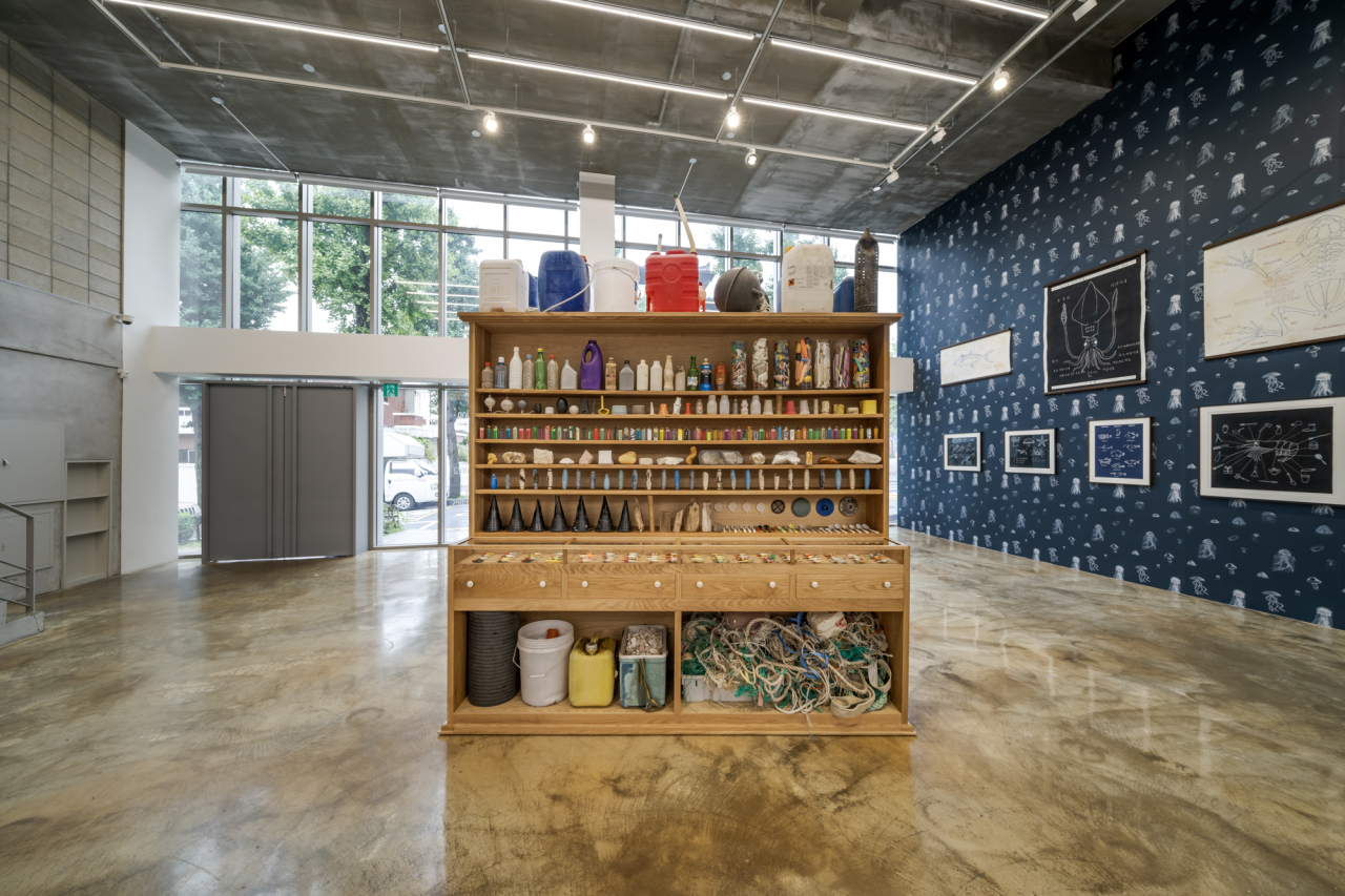 """An installation view of """"The Sea Life of South Korea and Other Curious Tales"""" at Barkat Contemporary in Seoul (Barakat Contemporary)"""