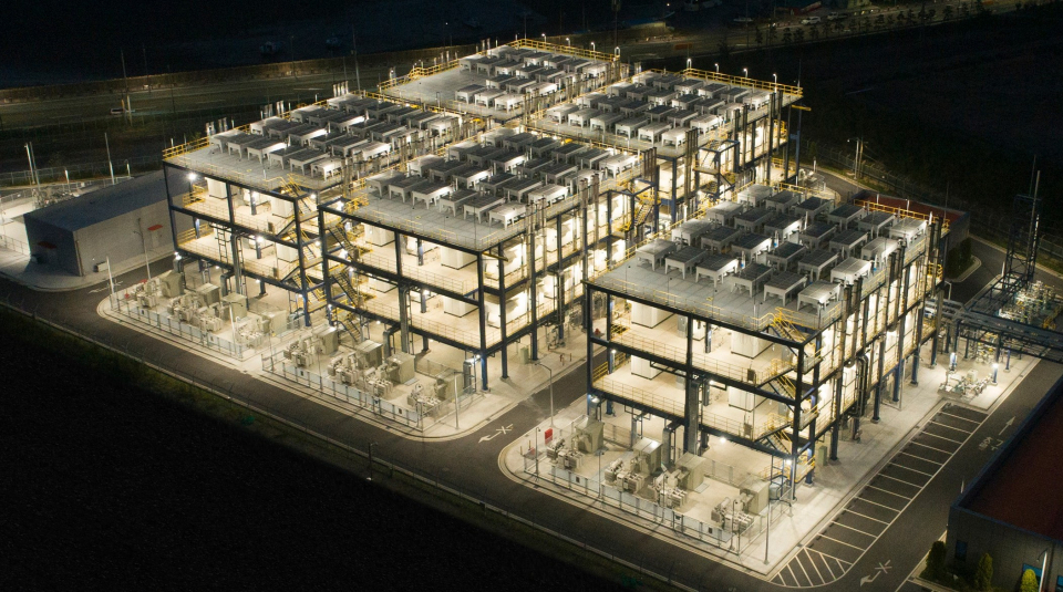 The world's first byproduct hydrogen fuel cell power plant built by Hanwha Energy stands in Daesan, South Chungcheong Province. The facility is powered by Doosan Fuel Cell's products. (Hanwha Energy)