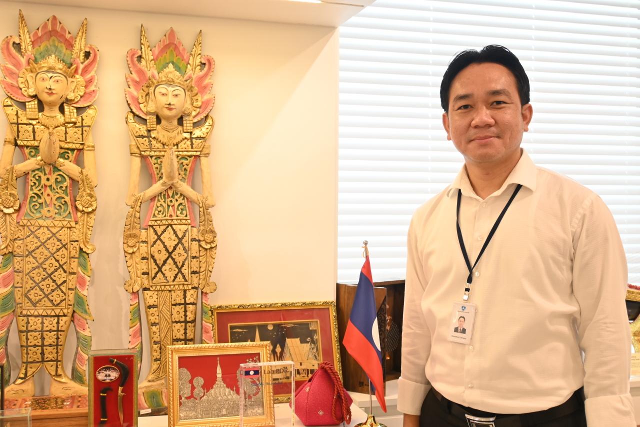 Khambou Thavixay, deputy head of development planning and general affairs.(ASEAN-Korea Center)