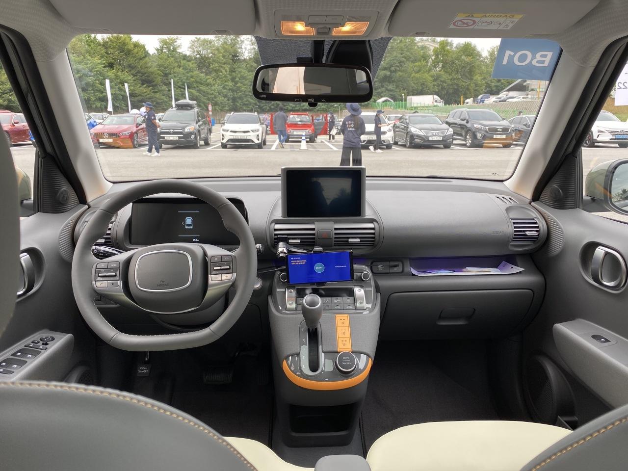 Inside Hyundai's Casper (Jo He-rim/The Korea Herald)