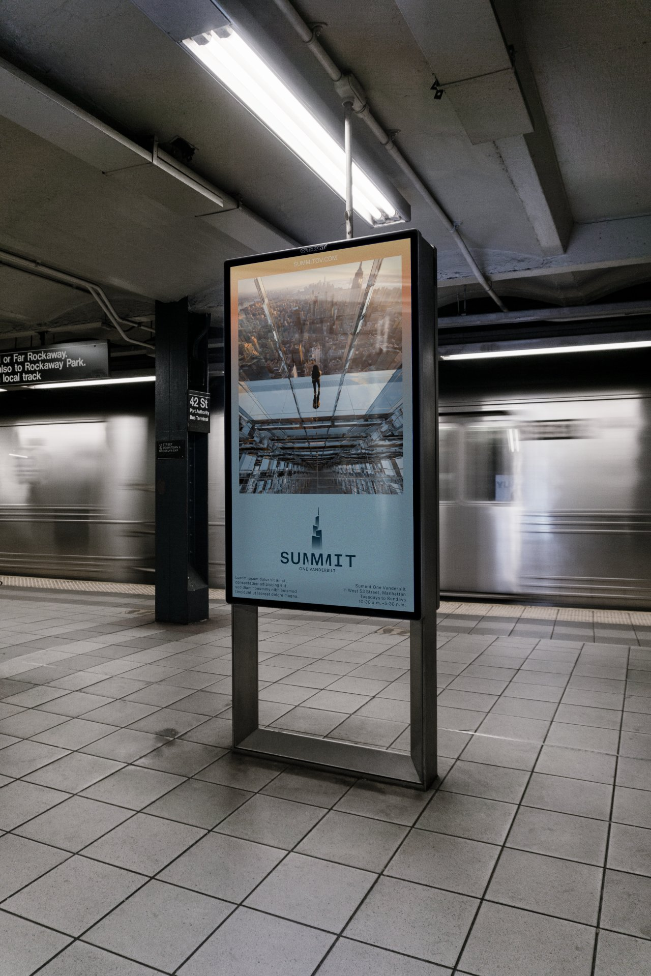 Signage for Summit at One Vanderbilt in New York (Point of Reference studio)