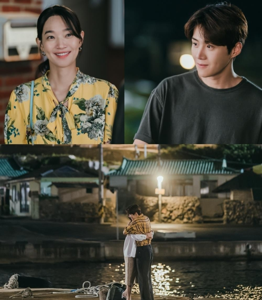 This combined image, provided by tvN, shows scenes from