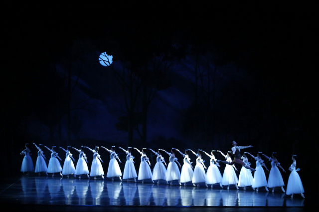 """Scene from the Universal Ballet Company's staging of """"Giselle"""" (UBC)"""