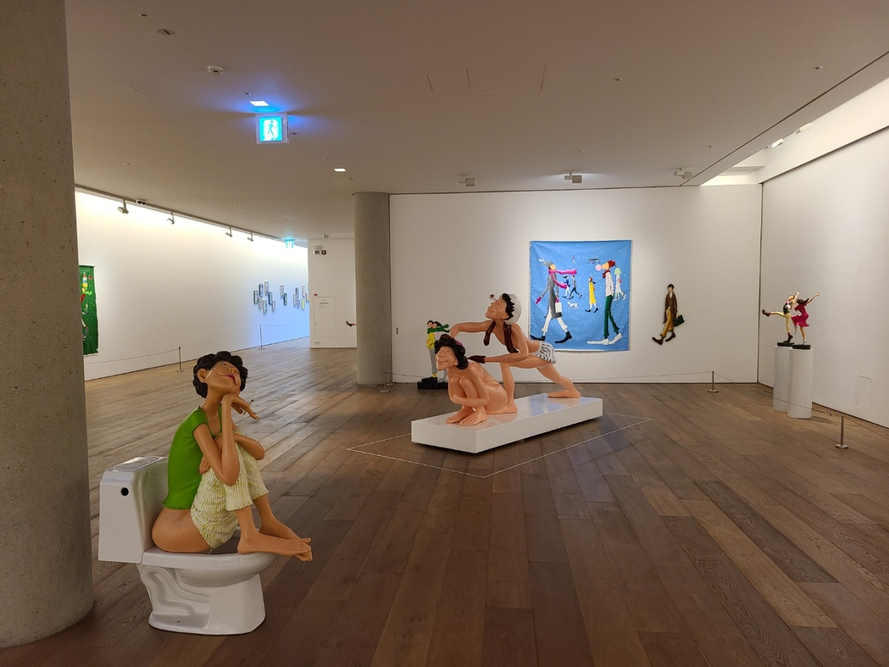 An installation view of Kim Gyoung-min's solo exhibition at the Haeden Museum of Art in Ganghwa-gun, Incheon (Courtesy of Kim)