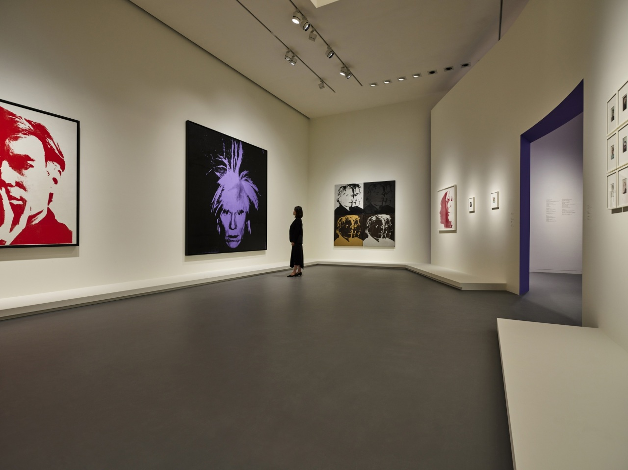 """An installation view of """"Andy Warhol: Looking for Andy"""" (Courtesy of Fondation Louis Vuitton)"""