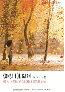 A poster for an exhibition of Korean children's picture books in Sweden (Culture Ministry)