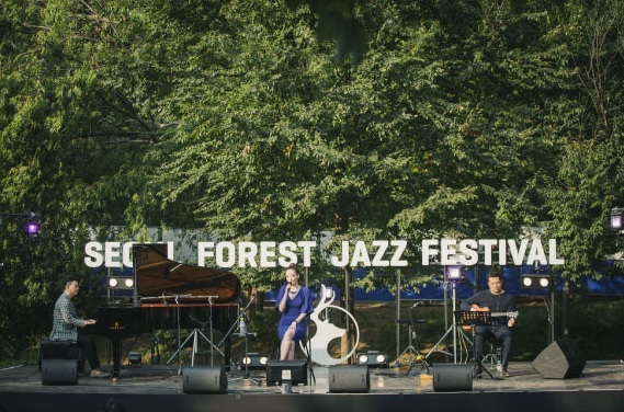 A band performance at Seoul Forest Jazz Festival (Seoul Forest Jazz Festival)