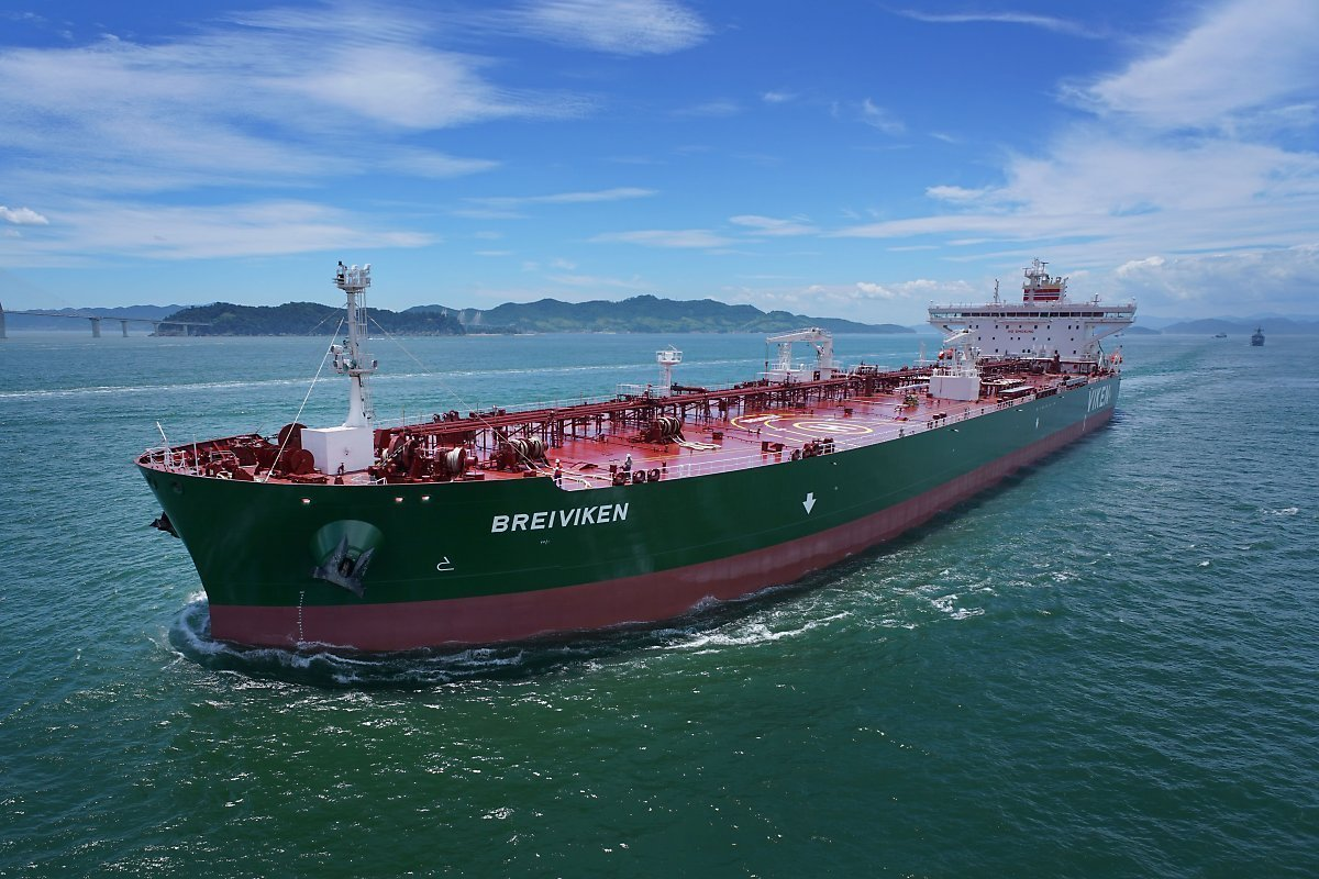 This undated file photo shows an A-Max oil tanker. (Samsung Heavy Industries Co.)