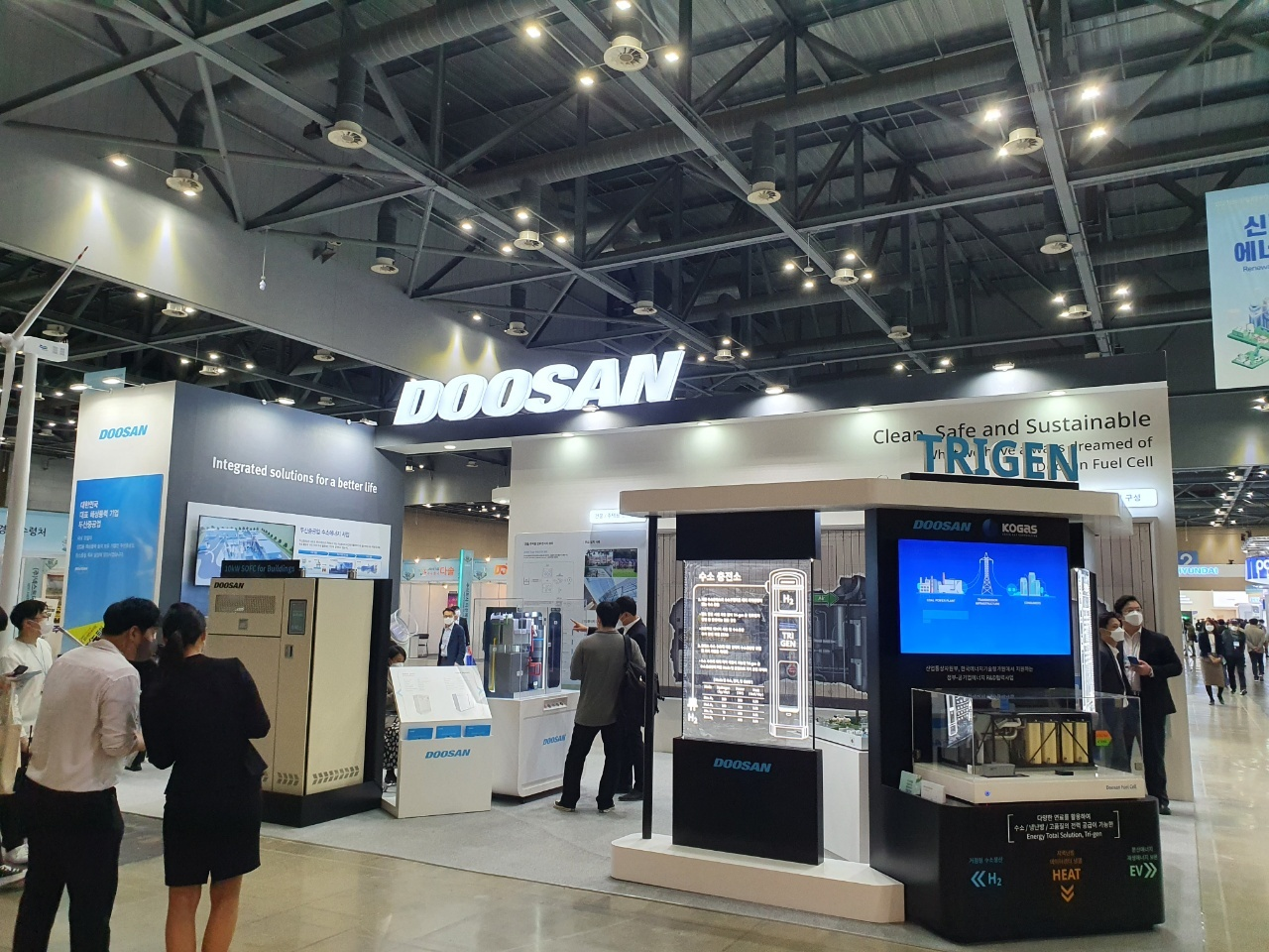 Doosan Fuel Cell's booth (By Kim Byung-wook/The Korea Herald)