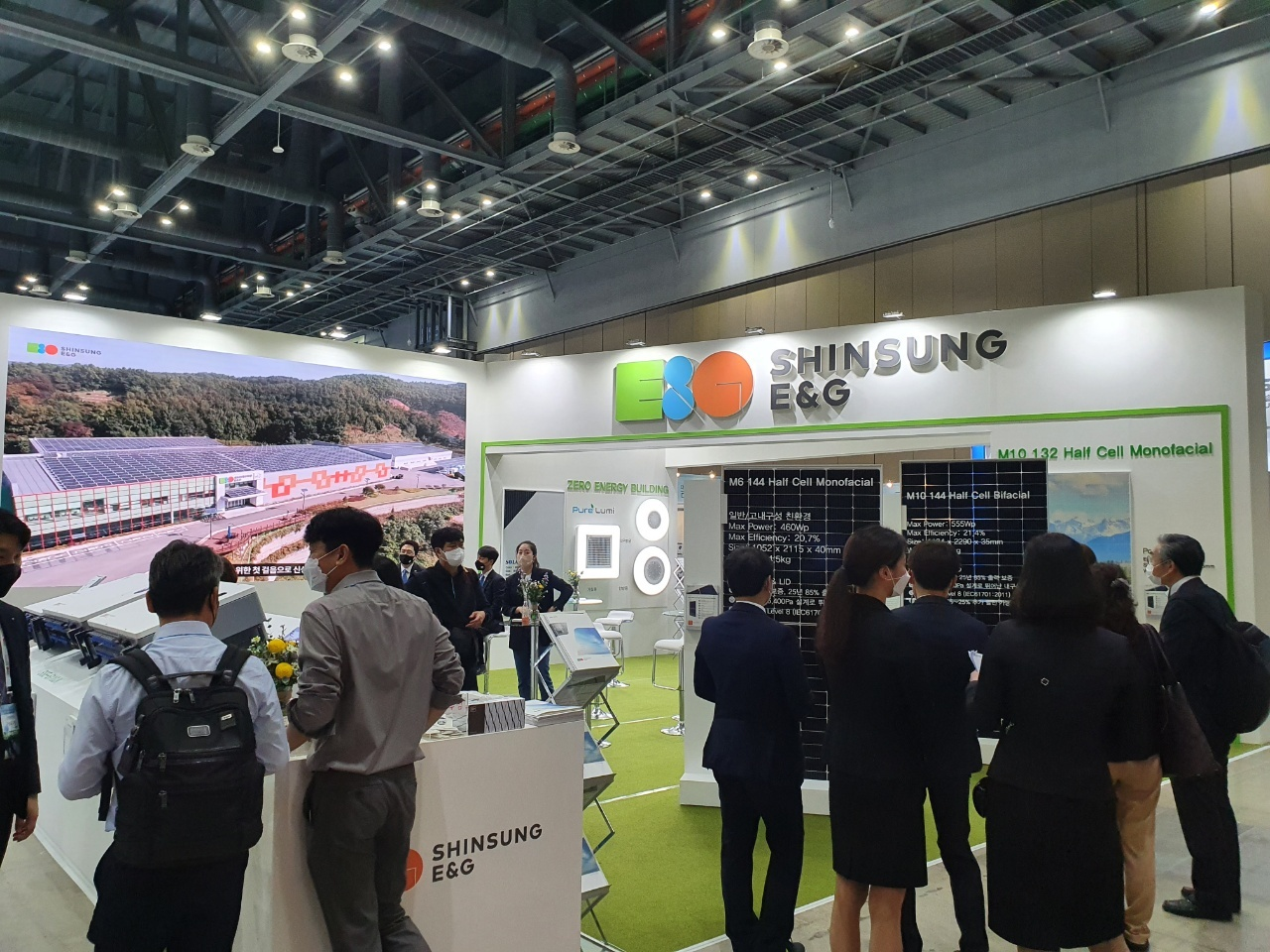 Shinsung E&G's booth (By Kim Byung-wook/The Korea Herald)