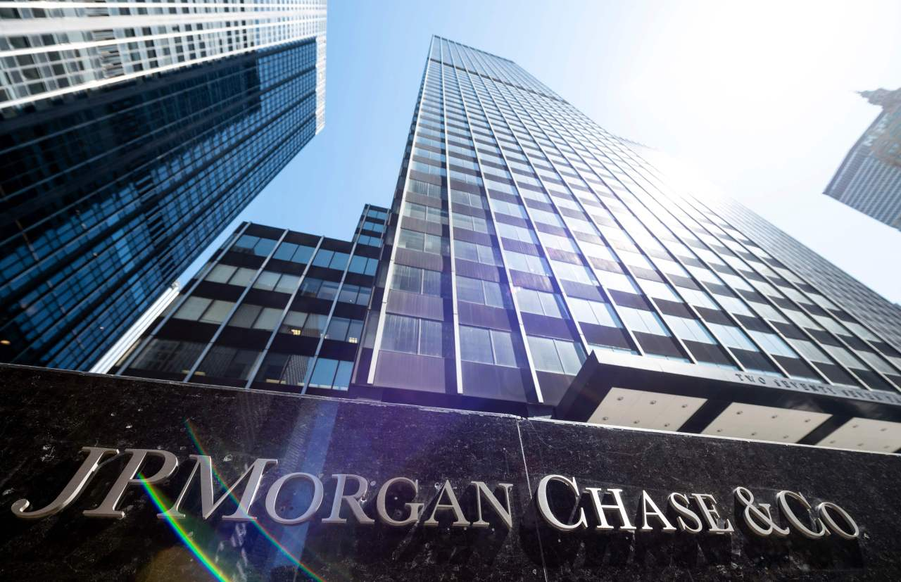 In this file photo taken on April 17, 2019 The JPMorgan Chase & Co. World headquarters are pictured on April 17, 2019 in New York City. (Reuters)