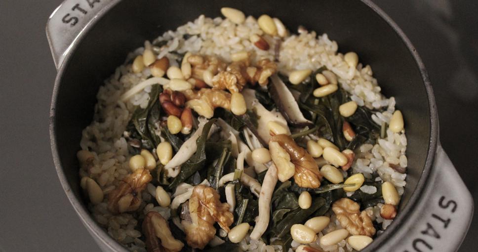 가을엔 '건강한 항암 밥상'…취나물 버섯 영양밥 만들기