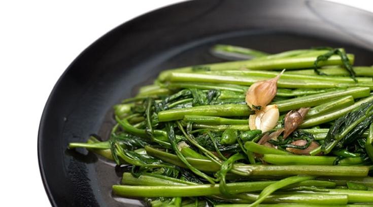 베트남 식당서 먹은 공심채, 피부 미백에 유익