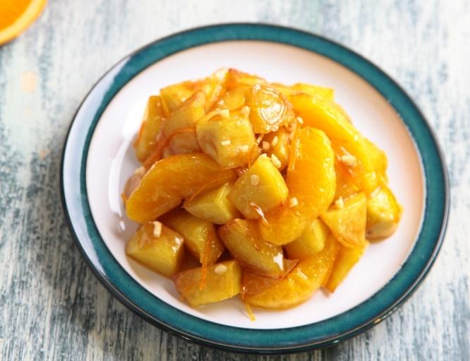 오렌지로 한끝 다르게! '오렌지 고구마 맛탕'