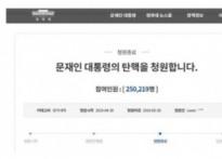'문재인 탄핵', 民心이 요동친다…25만 명 동..
