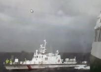 포항 앞바다서  외국상선 화재발...