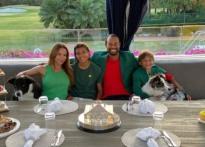 타이거 우즈, 가족과 마스터스 챔피언스 디너..