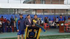 박천동 북구청장, 제 12회 강동동 체육회장기 족구대회 선수 격려