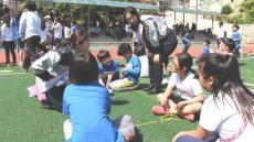 한마음 운동회서 학교폭력예방 홍보